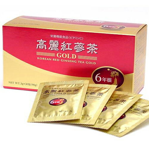 【メール便・送料無料】高麗紅参茶GOLD/富山薬品【箱から出してゆうパケット発送】