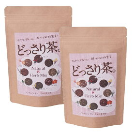 (送料無料・メール便)どっさり茶(2袋セット) 健康維持 食物繊維 朝スッキリ サプリ 生活習慣