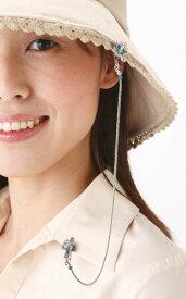 スミレの花 帽子ストッパー【帽子クリップ】【メール便送料込・代引不可】