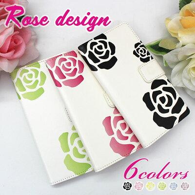 スマホケース手帳型当店取扱いほぼ全機種対応らくらくホンf42aケース手帳型楽天ハンドRakutenHandiPhone12かんたんスマホ2薔薇花柄AQUOSsense3liteおしゃれ綺麗大人可愛いきれいバラ柄