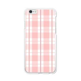 送料無料 iPhone6 Plus / iPhone6s Plus 5.5インチ ケース/カバー 【ピンキーチェック クリアケース素材】アイフォン6 プラス iPhone6 Plus / iPhone6s Plus ジャケット Apple docomo au softbank