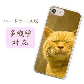 iPhone11ProMax他 当店取扱ほぼ全機種対応スマホケース カバー【吾輩は猫である名前はまだニャい 】らくらくスマートフォン me F-01L AQUOSsense3 ネコ 茶キジ キジ猫 ぶさねこ ぶさかわ ブサイク ぶさいくかわいい デザインクリアハードケース 携帯ケース 側面透明