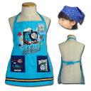 子供用 エプロン 三角巾 セット きかんしゃ トーマス となかまたち 110cm ひとりでかぶれる 可愛いスター青三角巾 2se…