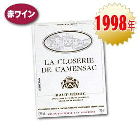 ワイン 赤 ラ クロズリー ド カマンサック 1998 AOC オー メドックフランス ボルドー カベルネ ソーヴィニヨン メルロー