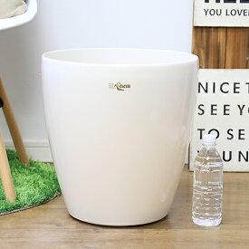 管理が簡単 お洒落 ラスターポット 370型 10号用ホワイトプラスチック鉢カバー 通販 白 大型 プラスチックの特徴を生かした高級感のある光沢仕上げ インドアグリーン用 最適 人気 36.5cm 23リットル 植木鉢