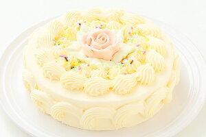 バタークリームケーキ 5号/バターケーキ/お祝い/誕生日/バースデーケーキ/売れ筋/おすすめ/デコレーションケーキ/エリヤ洋菓子店/