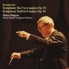 ハインツ・レーグナー/ベートーヴェン:交響曲 第7番/第8番 【CD】