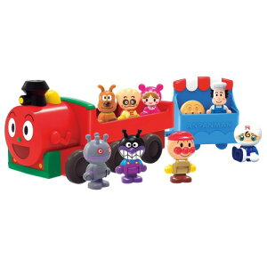 アンパンマン はじめてハウスドールセット SLマンと8人のなかまたちおもちゃ こども 子供 知育 勉強 2歳