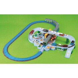 【送料無料】プラレール トミカと遊ぼう!くるぞわたるぞ!カンカン踏切セット おもちゃ こども 子供 男の子 電車 3歳