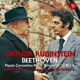 アルトゥール・ルービンシュタイン/ベートーヴェン:ピアノ協奏曲第5番「皇帝」&第4番 【CD】