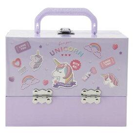バニティメイクボックス ユニコーンおもちゃ こども 子供 女の子 メイク セット
