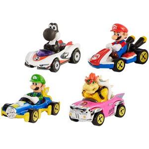 ホットウィール マリオカート 4パックおもちゃ こども 子供 男の子 ミニカー 車 くるま 3歳 スーパーマリオブラザーズ