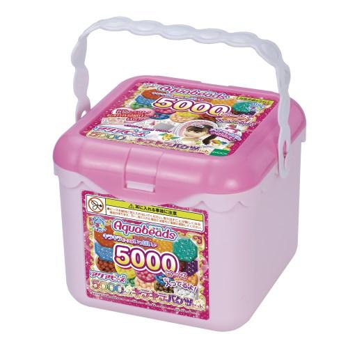 【送料無料】アクアビーズ AQ-S77 5000ビーズキラキラバケツセット おもちゃ こども 子供 女の子 ままごと ごっこ 作る 6歳