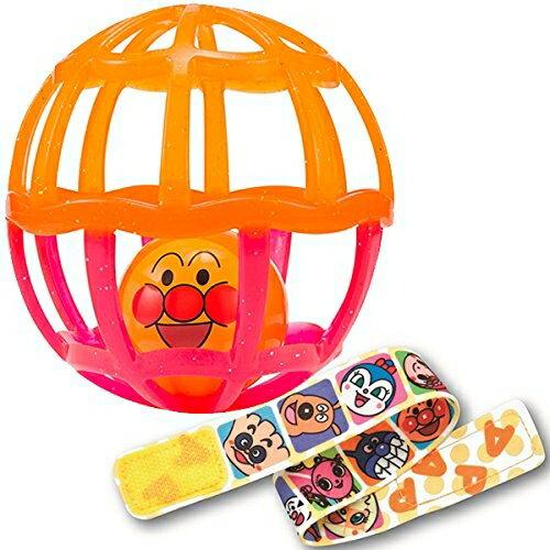 アンパンマン ストラップ付きしゃかしゃかボール(クリアオレンジ)