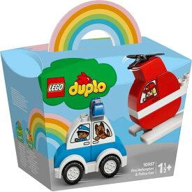 LEGO レゴ はじめてのデュプロ 消防ヘリコプターとパトカー 10957おもちゃ こども 子供 レゴ ブロック