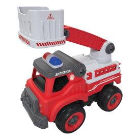 くみたてホイール R/C消防はしご車おもちゃ こども 子供 ラジコン 3歳
