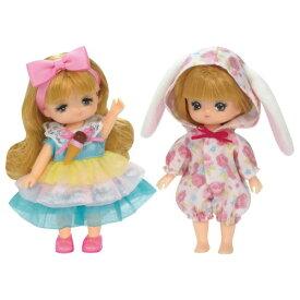 リカちゃんお洋服 LW-21 ミキちゃんマキちゃんドレスセット うさちゃんパジャマとアイスクリームドレス おもちゃ こども 子供 女の子 人形遊び 洋服 3歳