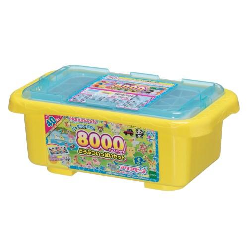 【送料無料】アクアビーズ AQ-291 8000ビーズコンテナどうぶついっぱいセット おもちゃ こども 子供 女の子 ままごと ごっこ 作る 6歳