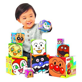 アンパンマン かさねていれて あいうえおキューブ おもちゃ こども 子供 知育 勉強 1歳5ヶ月