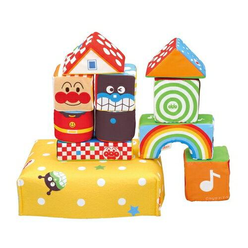 【送料無料】ベビラボ アンパンマン やさしいやわらかつみき おもちゃ こども 子供 知育 勉強 0歳8ヶ月