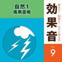 (効果音)/舞台に!映像に!すぐに使える効果音 9 自然1 風雨雷鳴 【CD】