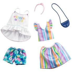 バービー ファッション2パック レインボー・フローラルおもちゃ こども 子供 女の子 人形遊び 洋服 3歳
