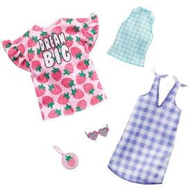 バービー ファッション2パック チェック・ストロベリーおもちゃ こども 子供 女の子 人形遊び 洋服 3歳