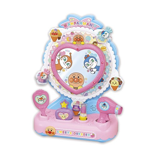 【送料無料】アンパンマン くるピカ!マジカルミラー ゆめのスイーツドレッサー おもちゃ こども 子供 女の子 メイク セット 3歳
