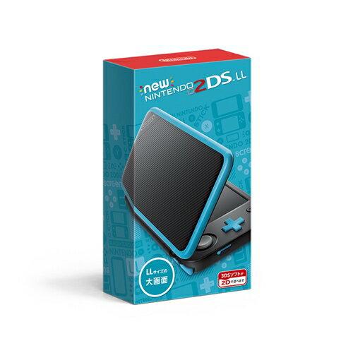 【送料無料】3DS Newニンテンドー2DS LL ブラック×ターコイズ