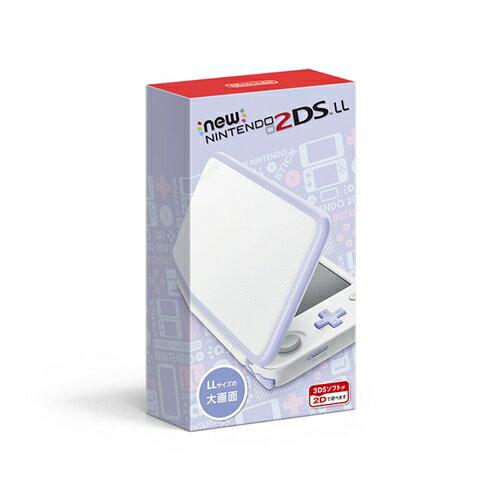 【送料無料】3DS Newニンテンドー2DS LL ホワイト×ラベンダー