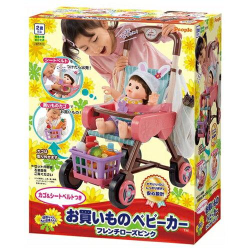 【送料無料】ぽぽちゃん お買いものベビーカーフレンチローズピンク