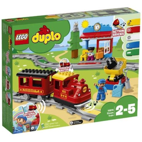 LEGO デュプロ 10874 キミが車掌さん!おしてGO機関車デラックス おもちゃ こども 子供 レゴ ブロック 2歳
