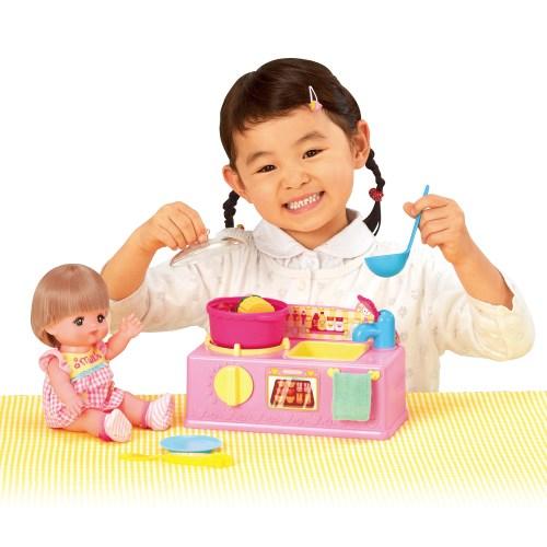 メルちゃん おりょうりしましょ くまさんキッチン おもちゃ こども 子供 女の子 人形遊び 家具 クリスマス プレゼント 3歳