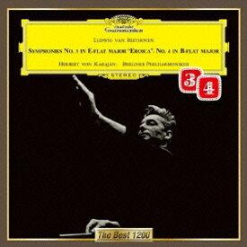 ヘルベルト・フォン・カラヤン/ベートーヴェン:交響曲第3番≪英雄≫・第4番 【CD】