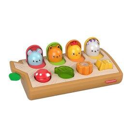 フィッシャープライス 感覚を育てよう!ボタンでアクションぴょっこりどうぶつおもちゃ こども 子供 知育 勉強 ベビー 0歳9ヶ月
