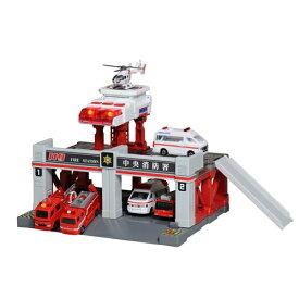 トミカタウンビルドシティ サウンドライト消防署 おもちゃ こども 子供 男の子 ミニカー 車 くるま 3歳