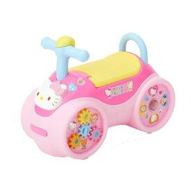 【送料無料】室内乗用ハローキティ らくらくキャスター おもちゃ こども 子供 知育 勉強 1歳6ヶ月