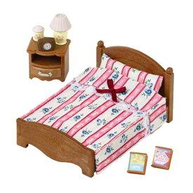 シルバニアファミリー カ-512 セミダブルベッドおもちゃ こども 子供 女の子 人形遊び 家具 4歳