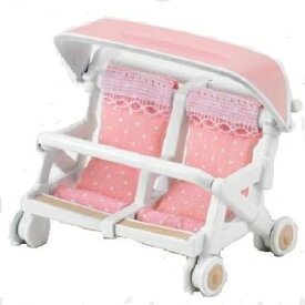 シルバニアファミリー カ-214 ふたり乗りベビーカー おもちゃ こども 子供 女の子 人形遊び 家具 3歳