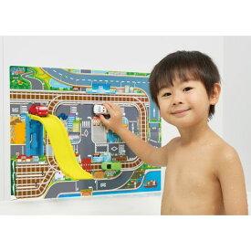 おふろDEミニカー タウンマップ&ジャンプ台セット おもちゃ こども 子供 知育 勉強 3歳