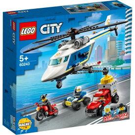 レゴ LEGO 60243 ポリス ヘリコプターの追跡おもちゃ こども 子供 レゴ ブロック