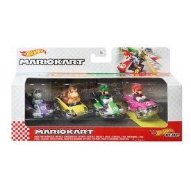 ホットウィール マリオカート 4パック Aアソートおもちゃ こども 子供 男の子 ミニカー 車 くるま 3歳 スーパーマリオブラザーズ