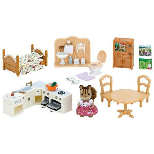 シルバニアファミリー セ-194 赤い屋根の大きなお家 おすすめ家具セット おもちゃ こども 子供 女の子 人形遊び 家具 3歳