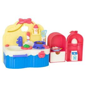 【送料無料】ずっとぎゅっと レミン&ソラン しらゆきひめ あそびたっぷりキッチン おもちゃ こども 子供 女の子 人形遊び 家具 3歳