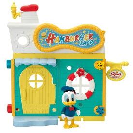 ●ラッピング指定可●DH-03 ディズニーキャラクター DIYTOWN ドナルドのハンバーガーショップ クリスマスプレゼント おもちゃ こども 子供 女の子 人形遊び ハウス 5歳 ドナルドダック