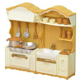 シルバニアファミリー カー420 キッチンコンロ・シンクセット おもちゃ こども 子供 女の子 人形遊び 家具 3歳