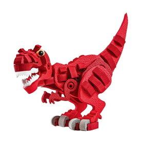 ブロッコ ダイナソーシリーズ レッドティラノおもちゃ こども 子供 知育 勉強 5歳