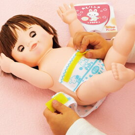 ぽぽちゃんのおむつ替えごっこ おしりふきつきおもちゃ こども 子供 女の子 人形遊び 小物 2歳