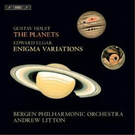 アンドルー・リットン/エルガー(1857-1934):『エニグマ変奏曲』Op.36 ホルスト(1874-1934):組曲『惑星』Op.32 【CD】