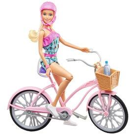 バービーとおでかけ!ピンクのじてんしゃおもちゃ こども 子供 女の子 人形遊び 小物 3歳